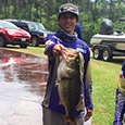 CTHS angler shows off his catch at the State tournament.