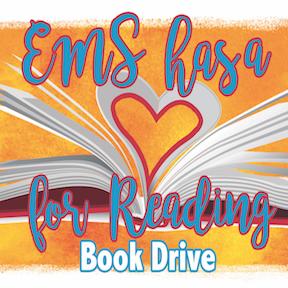 EMS has a Heart for Reading book drive