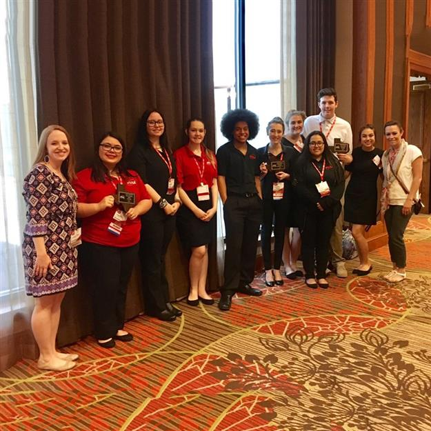 EMS ISD students pose for picture at FCCLA state competition
