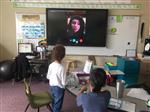 students participate in Skype call with California family affected by wildfires