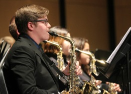 photo credit Rough Rider Media - photo of saxophone players in Saginaw High School Band