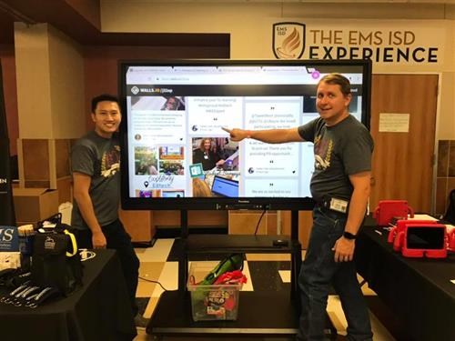 EMS Instructional Technology showcases an interactive display board at Taste of Northwest.