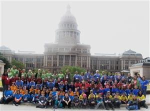 GES 4th graders at the state capitol building