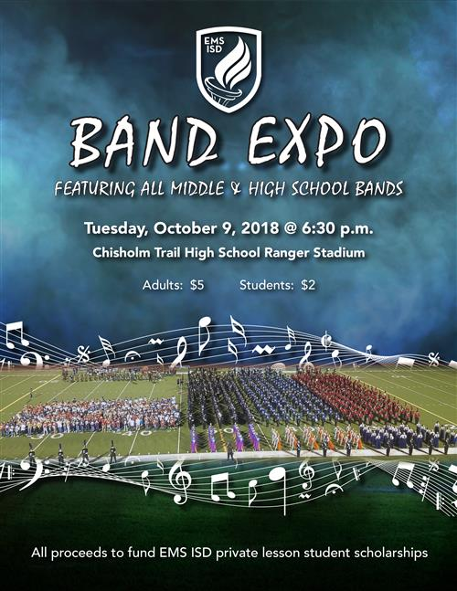 Band Expo 2018 flyer