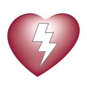 Project Adam heart logo with lightning bolt inside heart