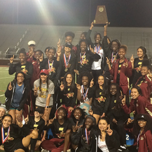 SHS girls track team holds their trophy