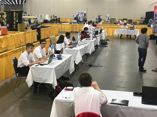 Robotics students compete at SkillsUSA National Contest.