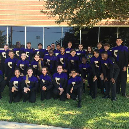 picture of CTHS drumline gathered as a group