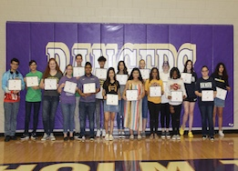 CTHS students who participated in fine arts signing day