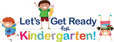 Image of cartoon kids and words Let's Get Ready for kindergarten