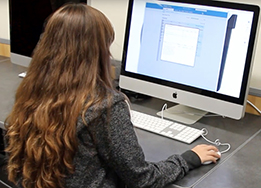 student choosing courses on a computer