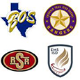 High schools and district logos.