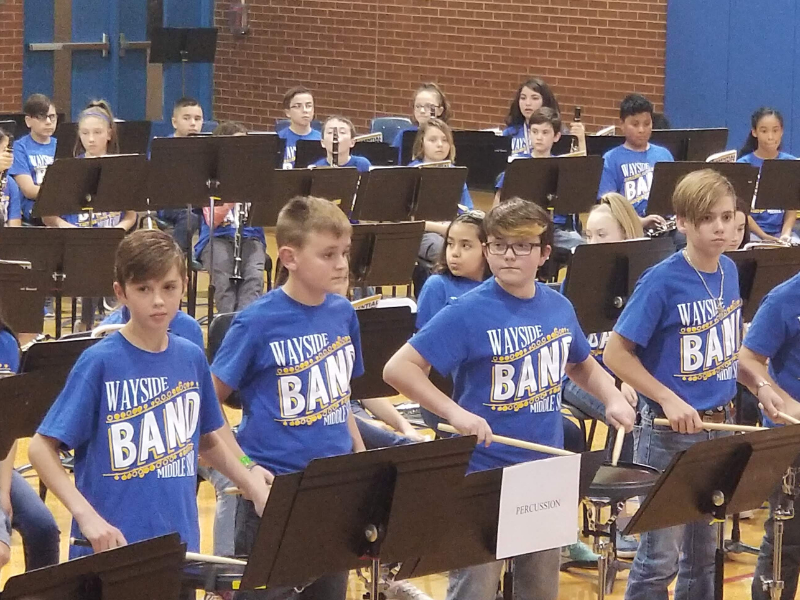 Band students perform