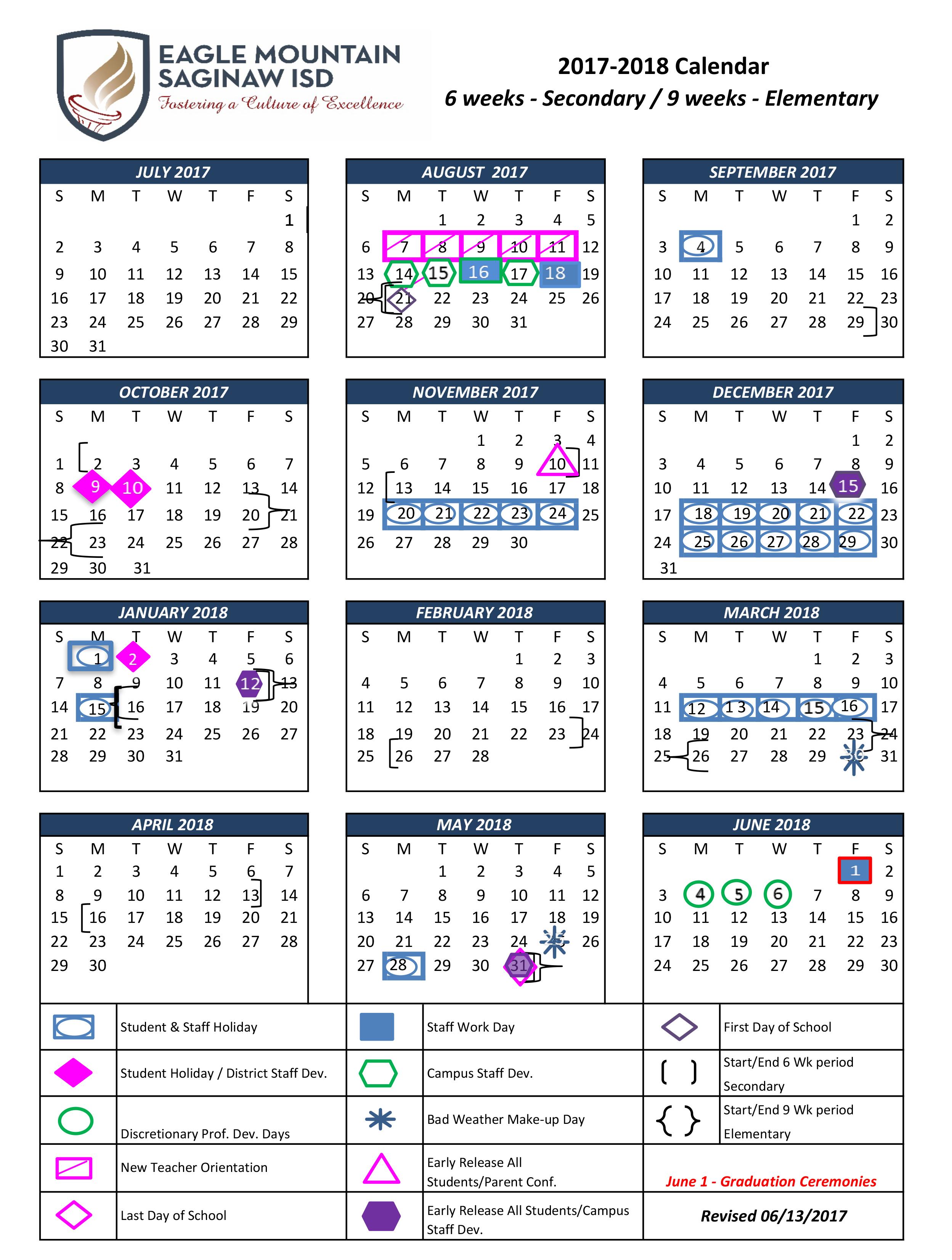 Calendar Overview – School Calendar