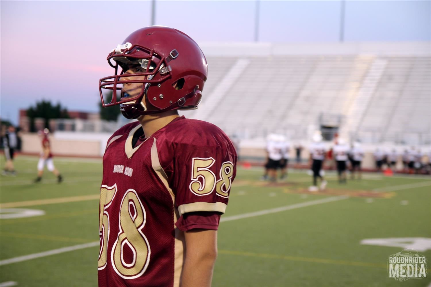 photo of SHS football player courtesy of Rough Rider Media