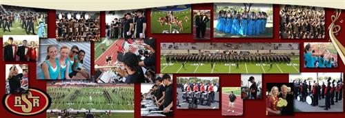 a collage of photos of band students over the last few years