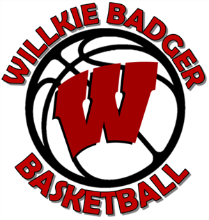 Wilie Badger Basketball with Basketball and W