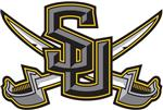 Southwestern University Logo - SU over crossed swords
