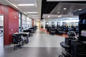 Salon photo of chairs and nail tech stations