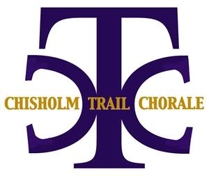 CTC in purple with Chisholm Trail Chorale overtop in gold letters