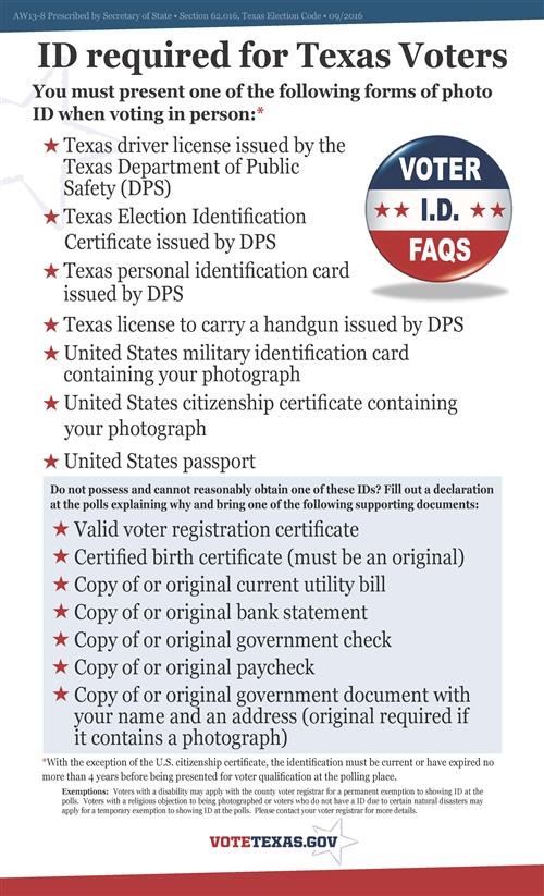 ID Required for Texas Voters