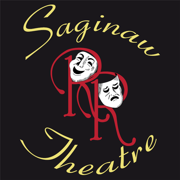 Saginaw Theatre - RR with thespian faces