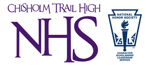 Chisholm Trail High NHS with NHS torch logo