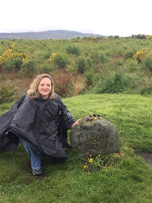 Me in Scotland at Culloden Field
