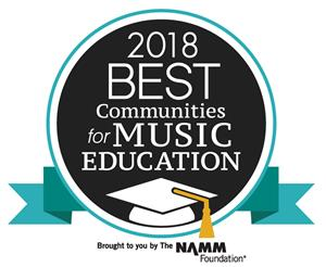 2018 Best Communities for Music Education badge