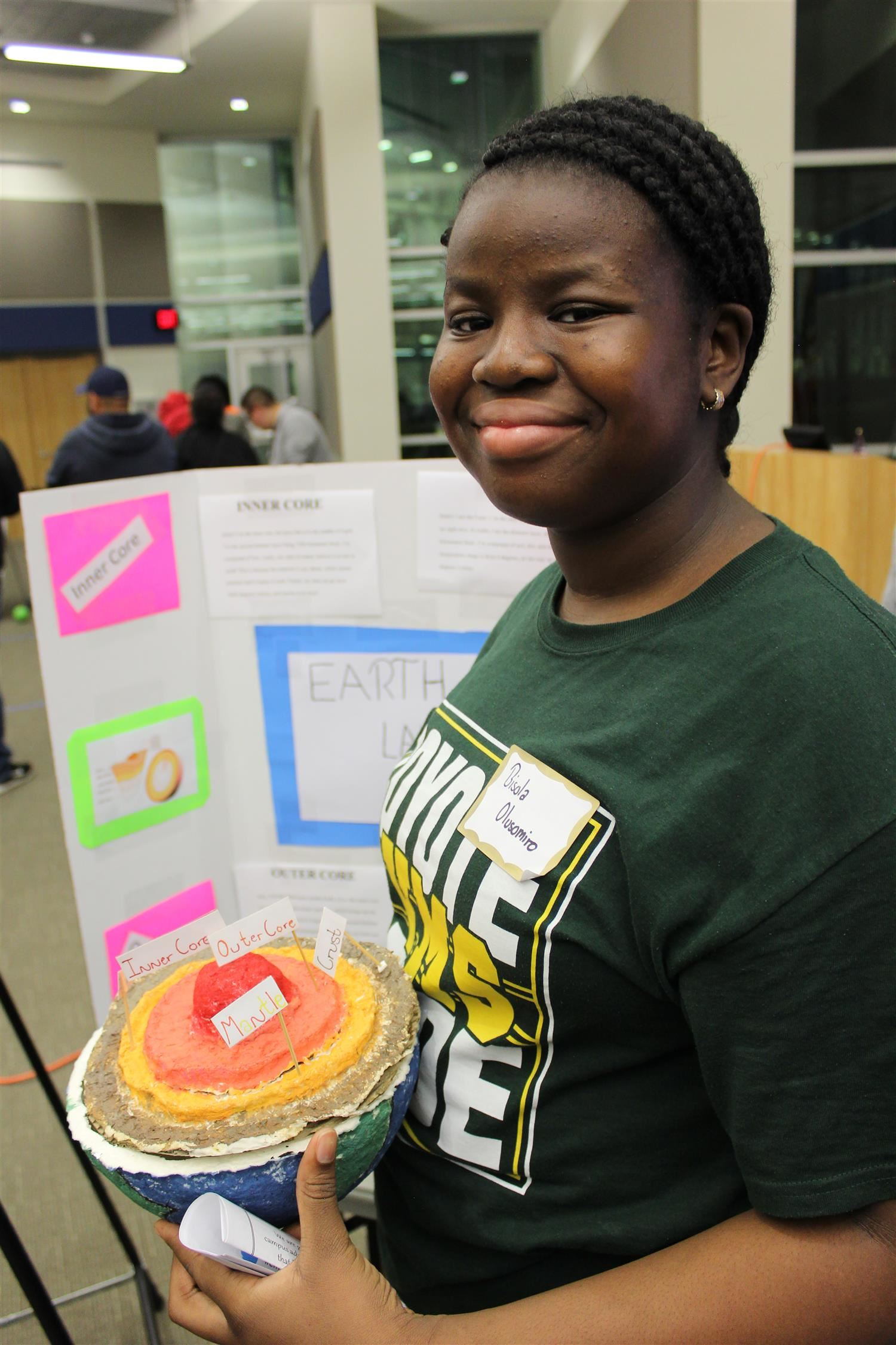 Student at STEM Showcase