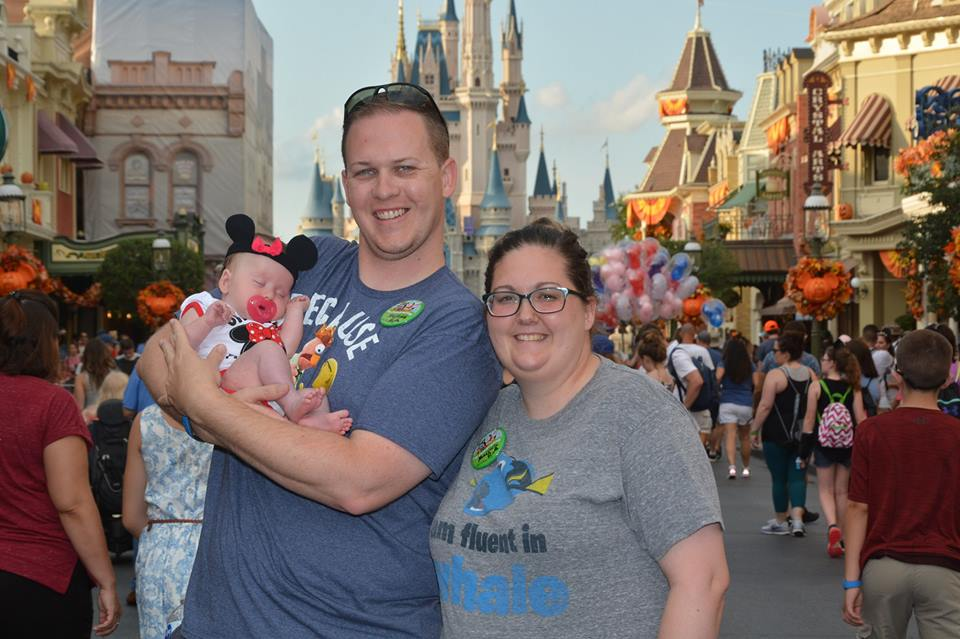 Mrs. Powers and Family at Disney