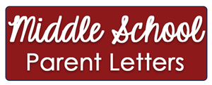 Middle School Parent Letters