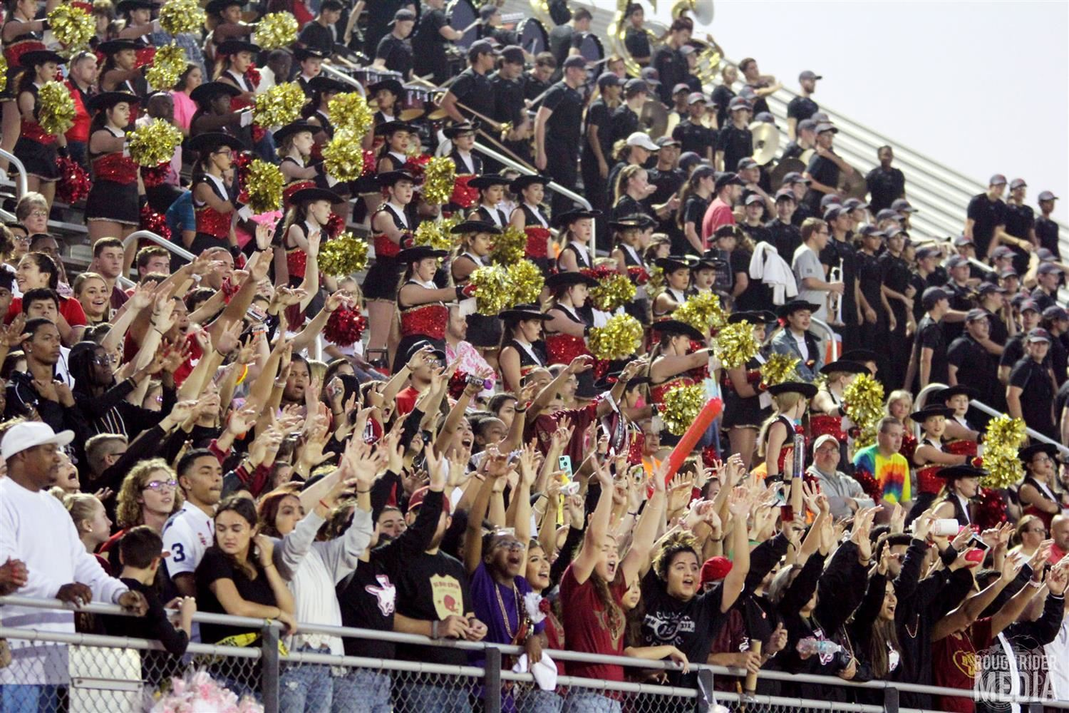photo of student section at SHS football game courtesy of Rough Rider Media