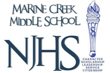Marine Creek Middle School NJHS with national torch logo
