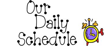 Image result for daily schedule